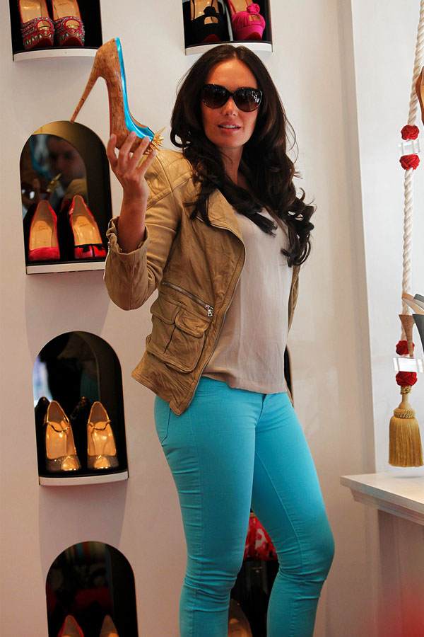 Tamara Ecclestone shops for shoes at Christian Louboutin in Knightsbridge in London