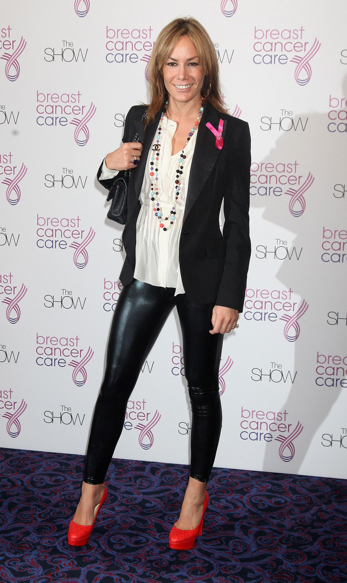 Tara Palmer Tomkinson arrives at The Breast Cancer Care