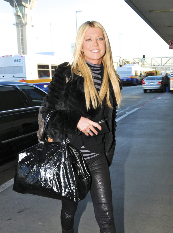 Tara Reid arrives at LAX airport in LA