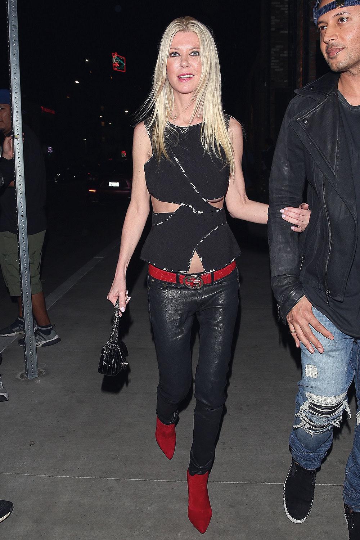 Tara Reid was spotted arriving at Beauty & Essex nightclub
