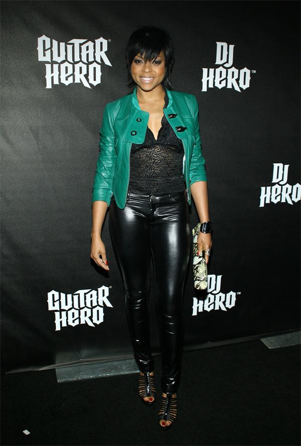Taraji P Henson DJ Hero launch party in LA