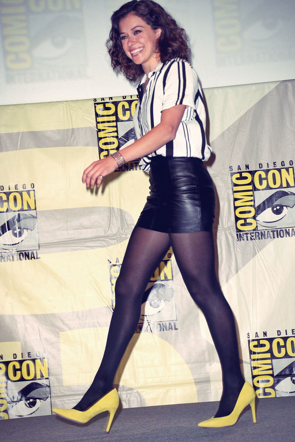 Tatiana Maslany attends Comic-Con International