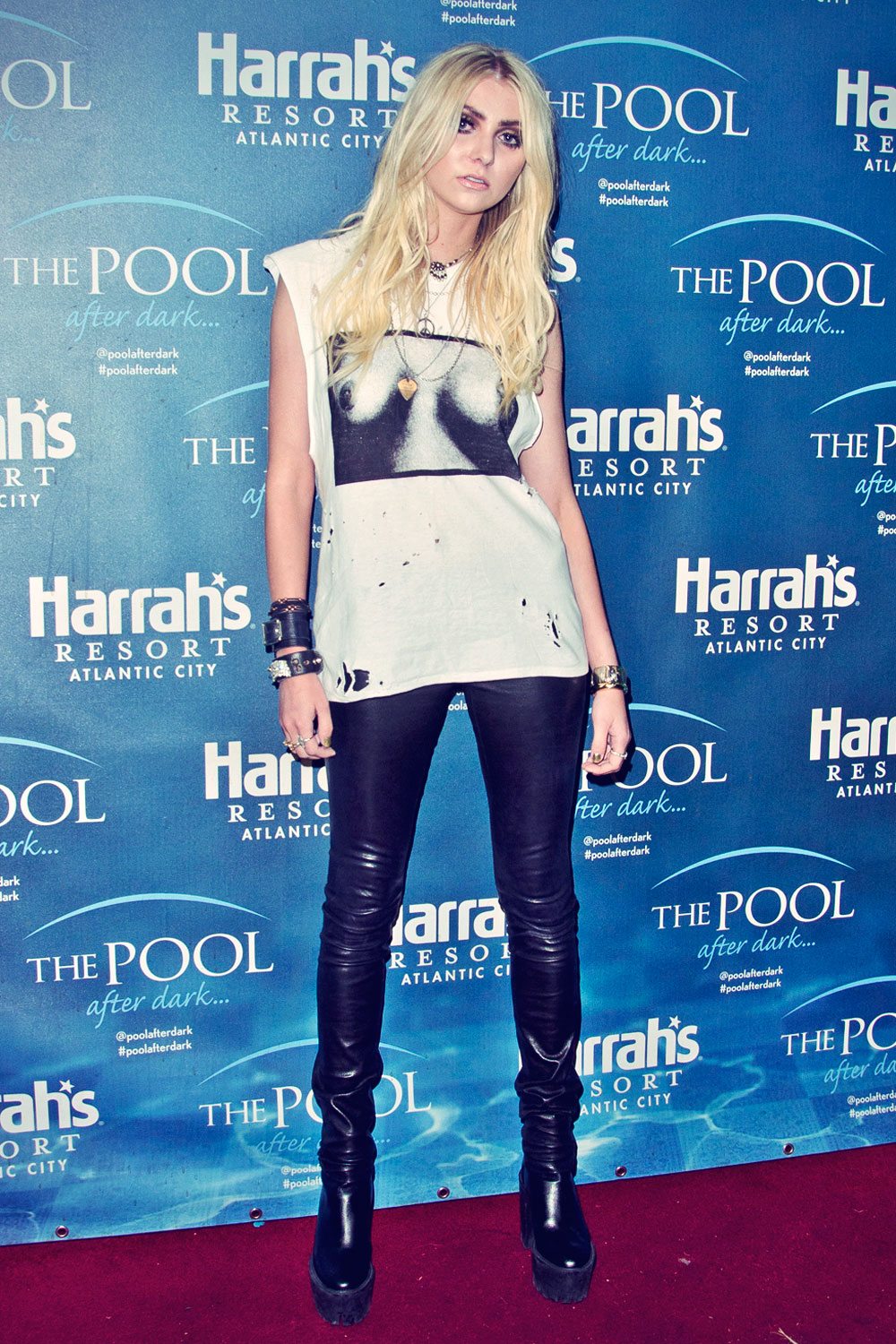Taylor Momsen attends Harrah's Casino Pool Party