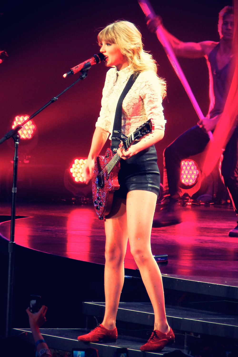 Taylor Swift performs at Red Tour concert