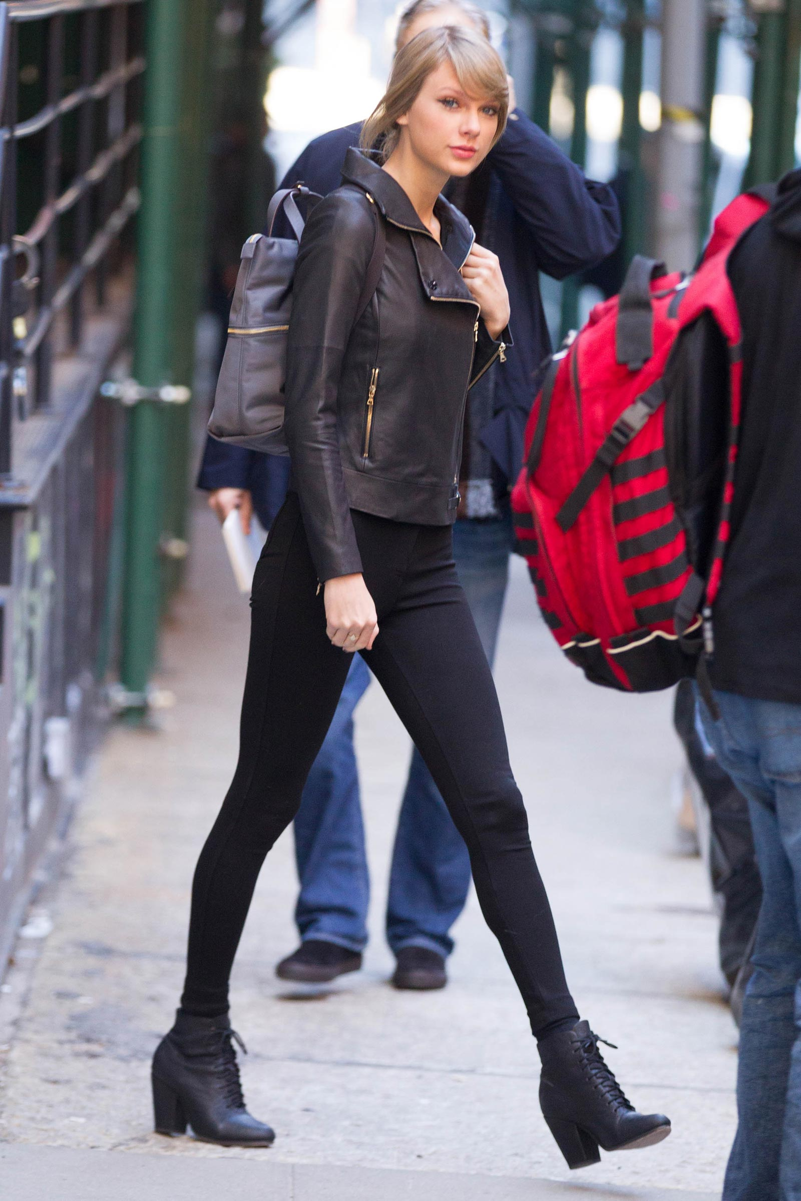 Taylor Swift Out And About Candids In New York Leather