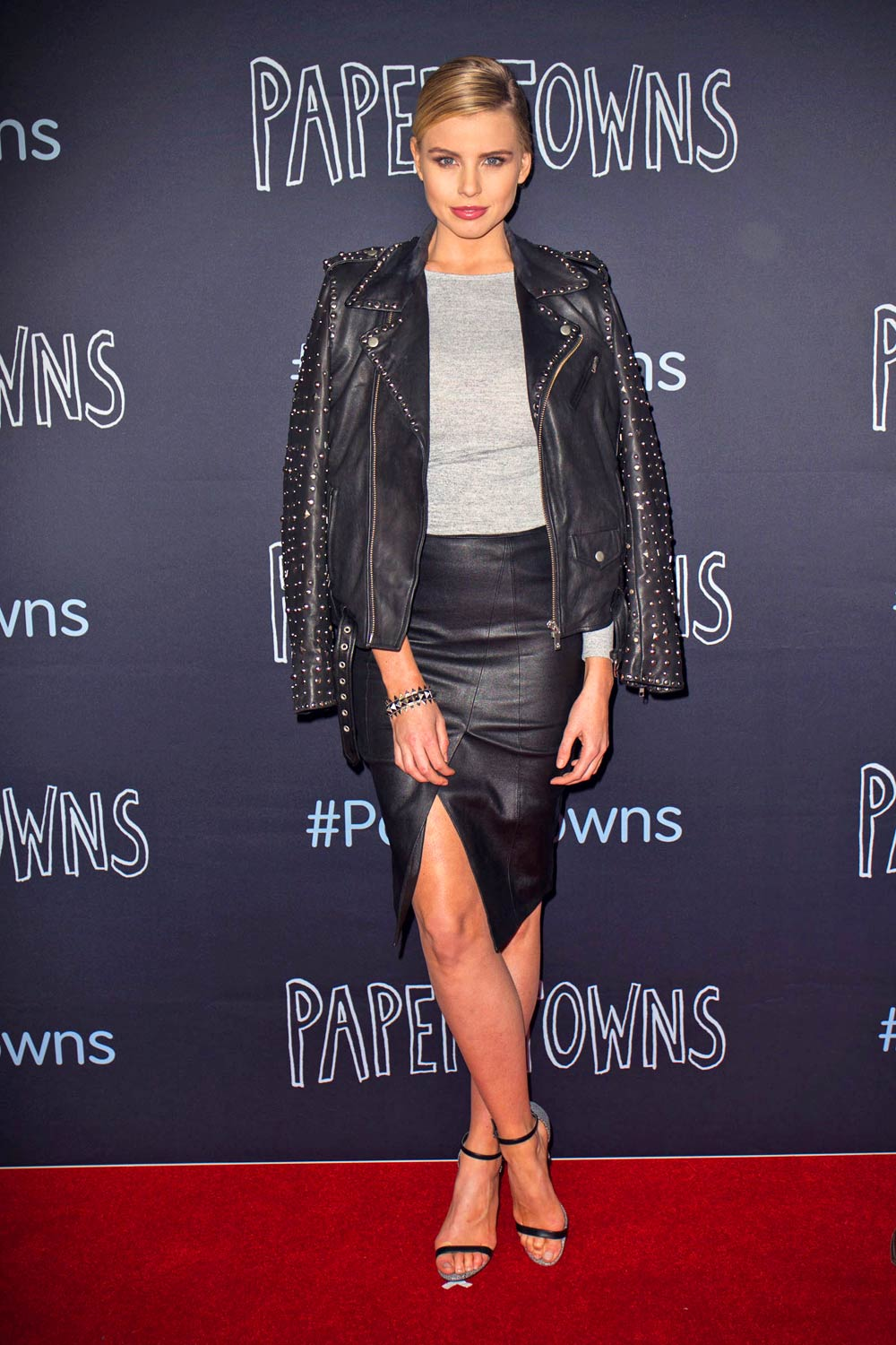 Tegan Martin arrives at the Paper Towns Australian premiere