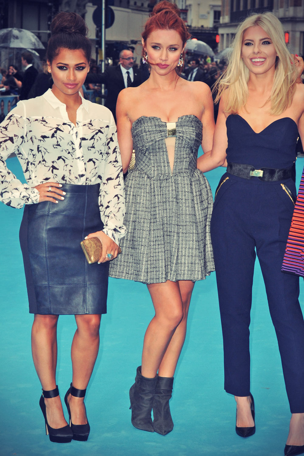 The Saturdays attends We're The Millers Premiere