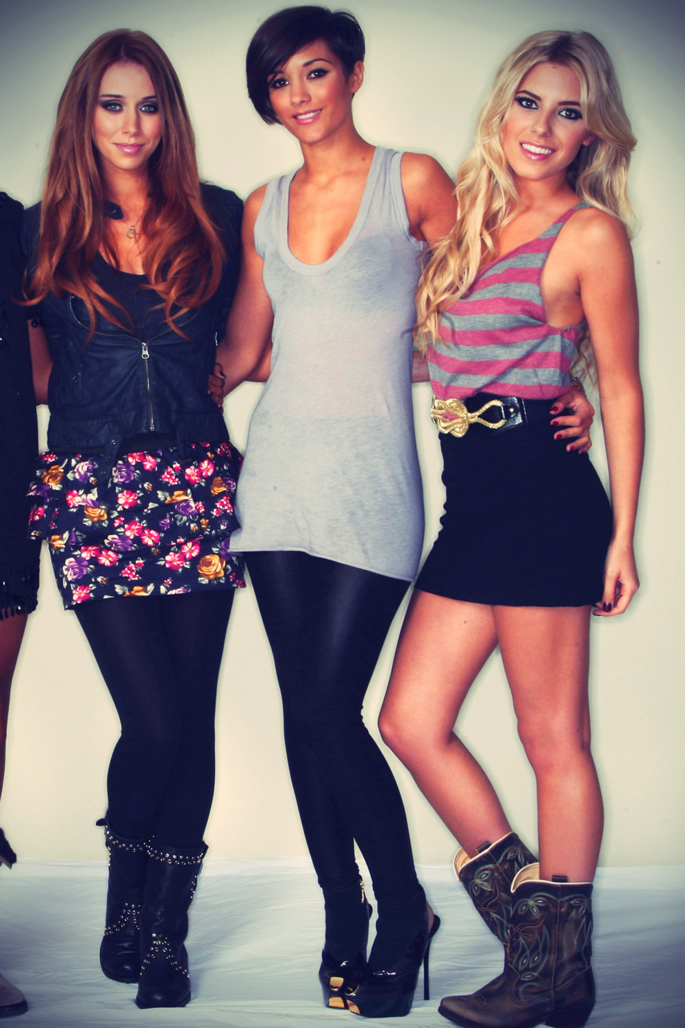 The Saturdays pose for a portrait session to launch their new album