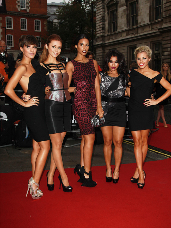The Saturdays at 2011 GQ Men Of The Year Awards in London