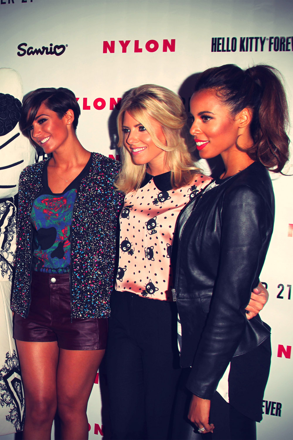 The Saturdays attended the celebration of Nylon Magazine