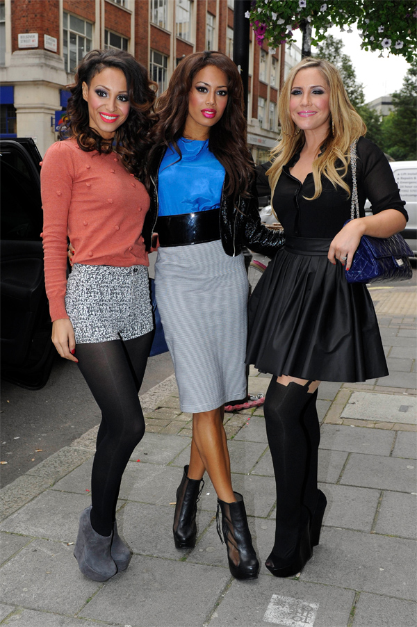 The Sugababes at BBC Radio 1 in London