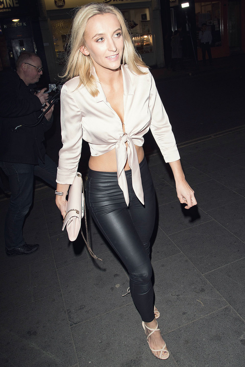 Tiffany Watson tight leather pants