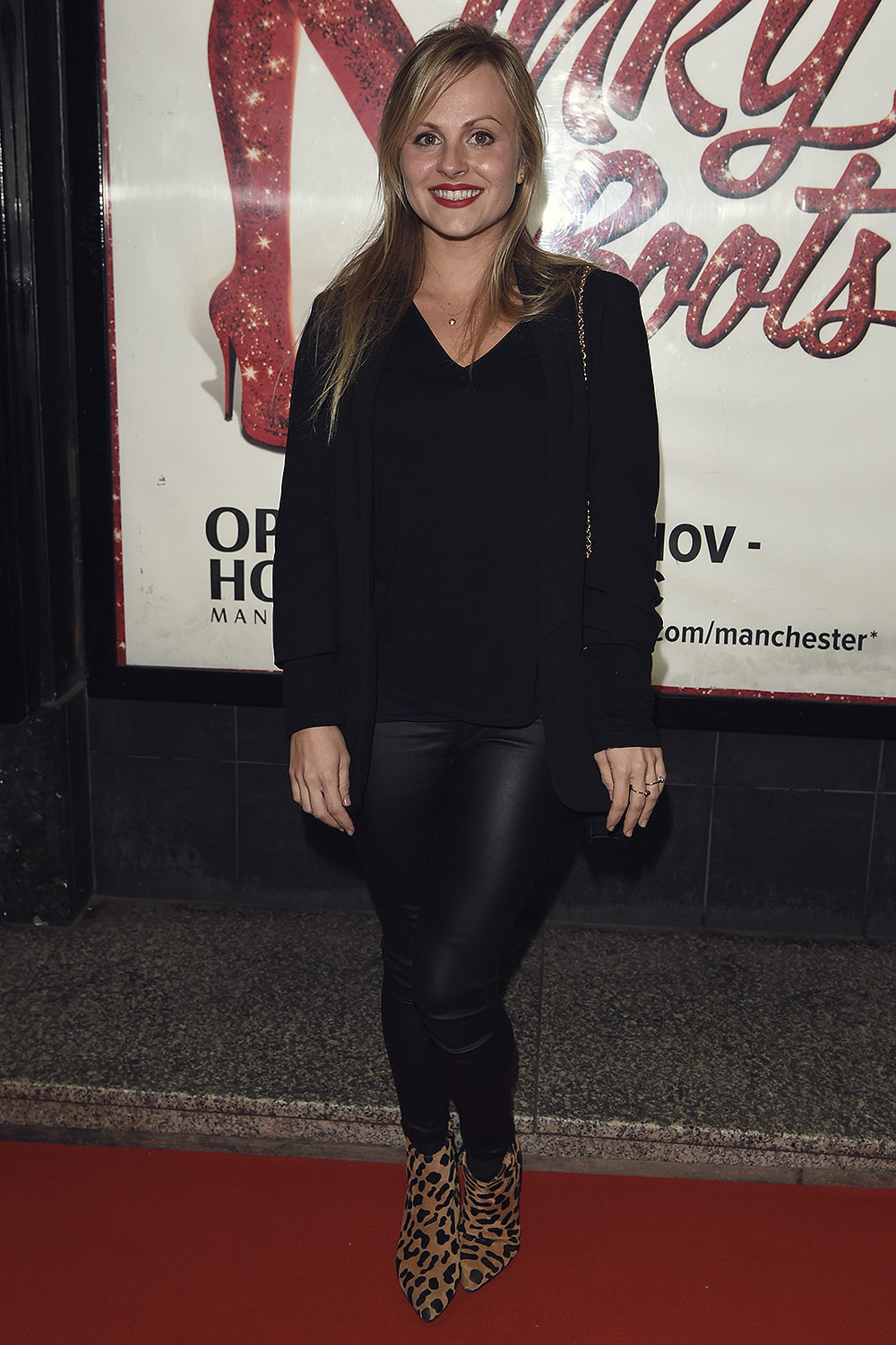 Tina O Brien Attends Kinky Boots Press Night Leather