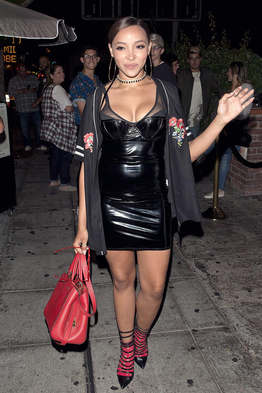 Tinashe leaving Delilah Restaurant