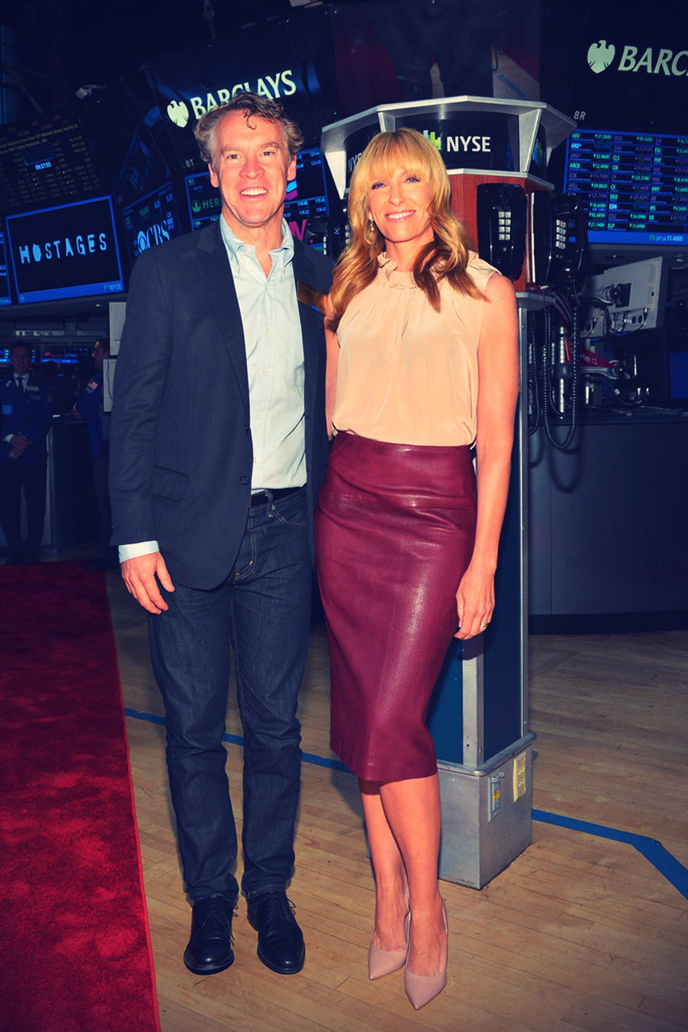Toni Collette ring NYSE Opening Bell in celebration of the the television series Hostages