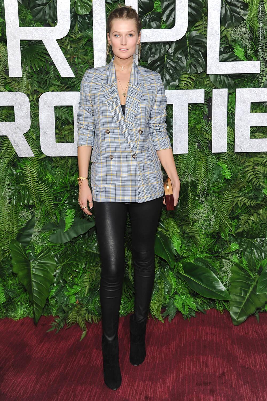 Toni Garrn attends Triple Frontier Premiere