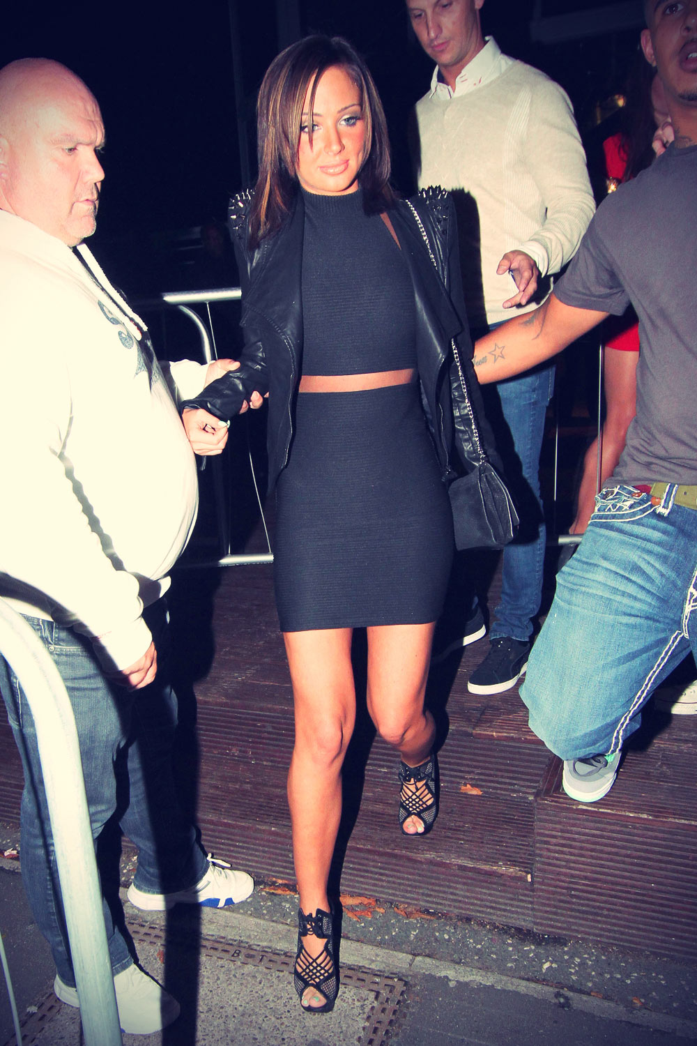Tulisa Contostavlos night out clubbing in Essex