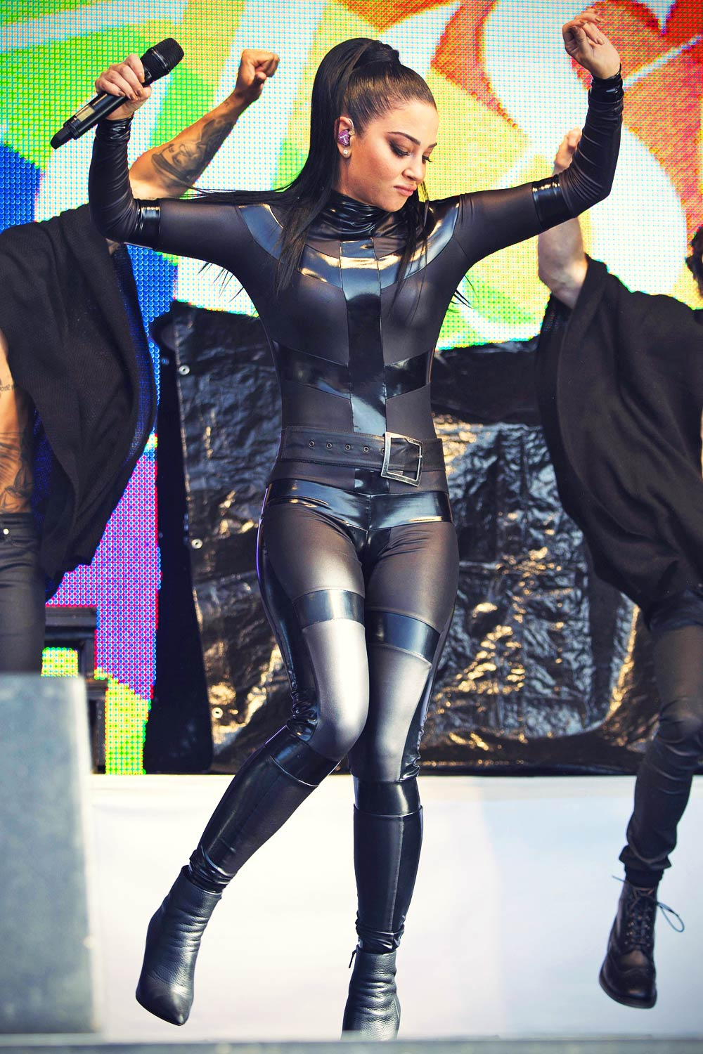 Tulisa Contostavlos performs on stage during Brighton Pride