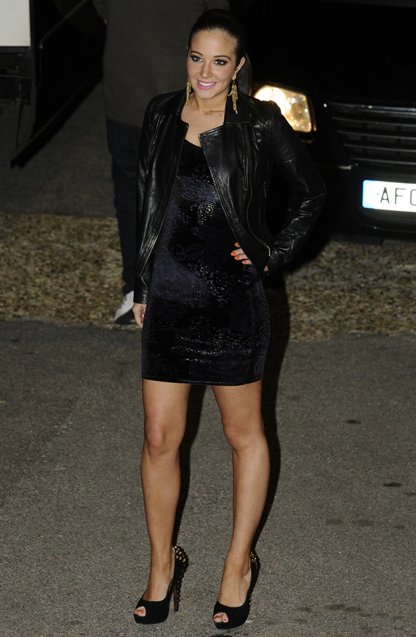 Tulisa Contostavlos leaves X Factor Studios in London