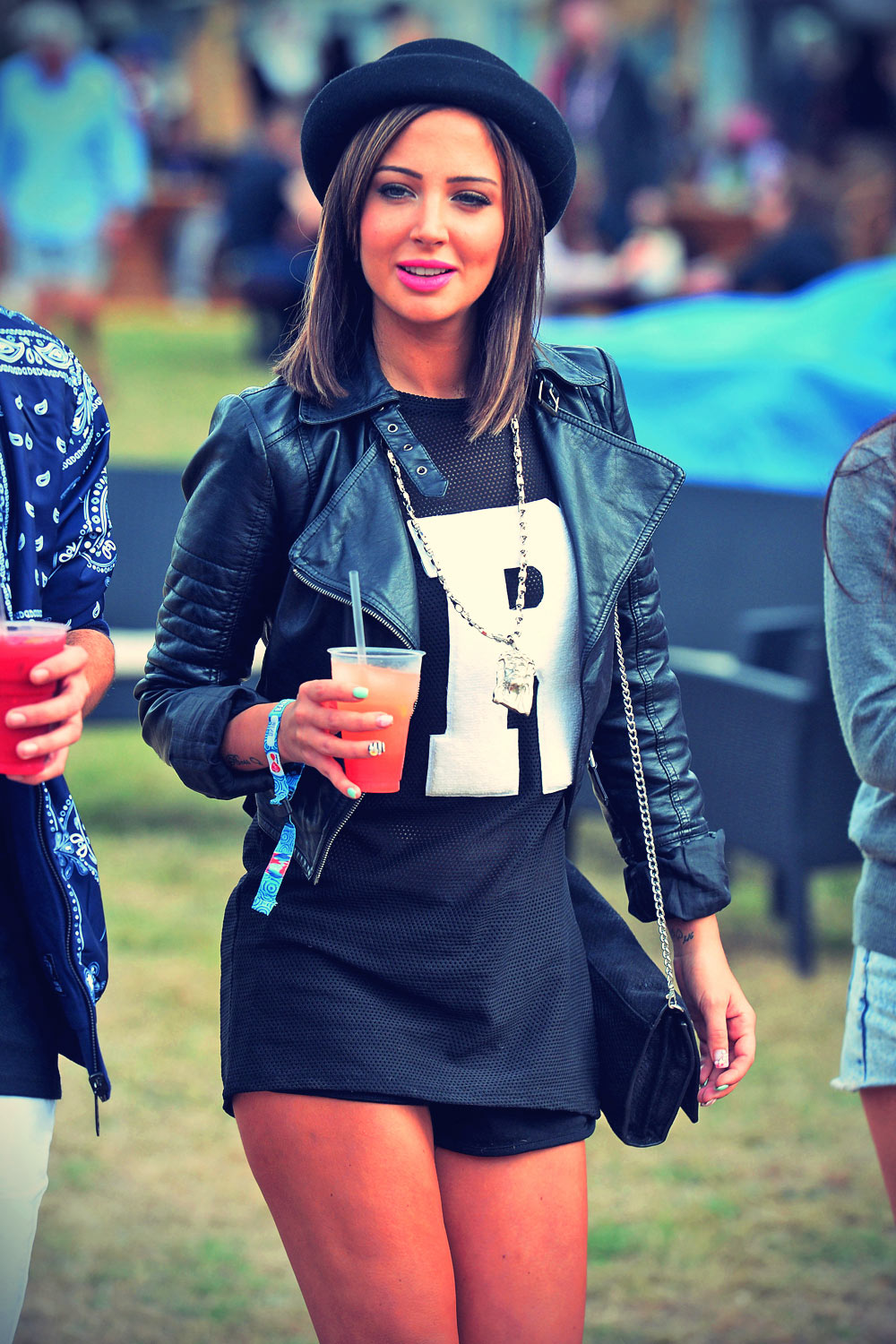 Tulisa Contostavlos out & about on day 1 of V Festival at Hylands Park