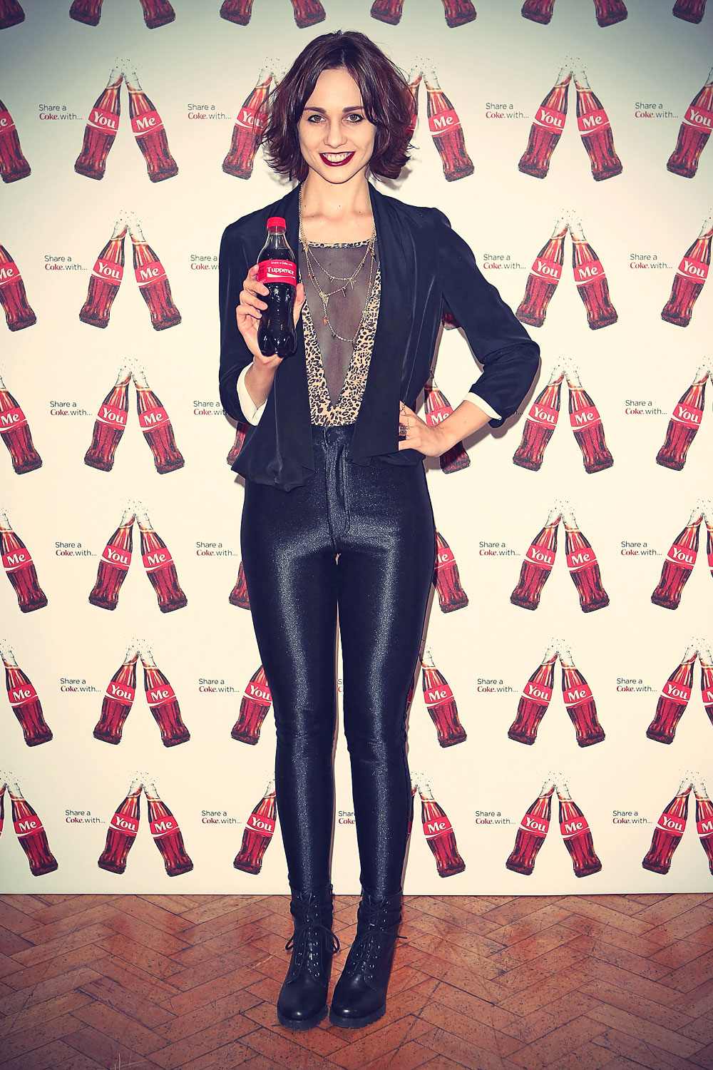 Tuppence Middleton at the launch of Coca-Cola's Share a Coke