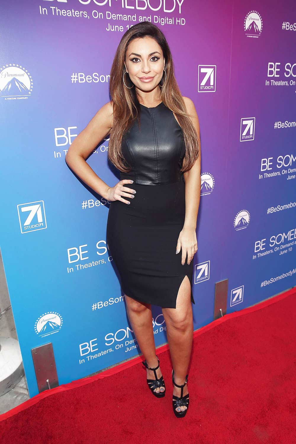 Uldouz Wallace arrives for a special screening of Be Somebody