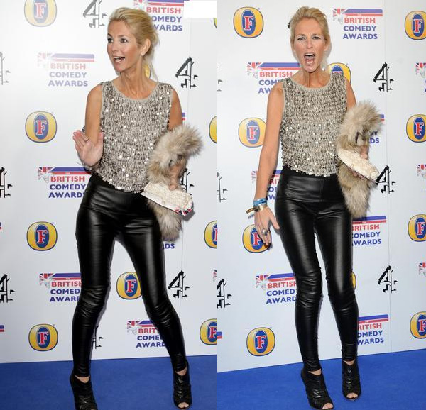 Ulrika Jonsson attends the British Comedy Awards at the O2 Arena in London, England