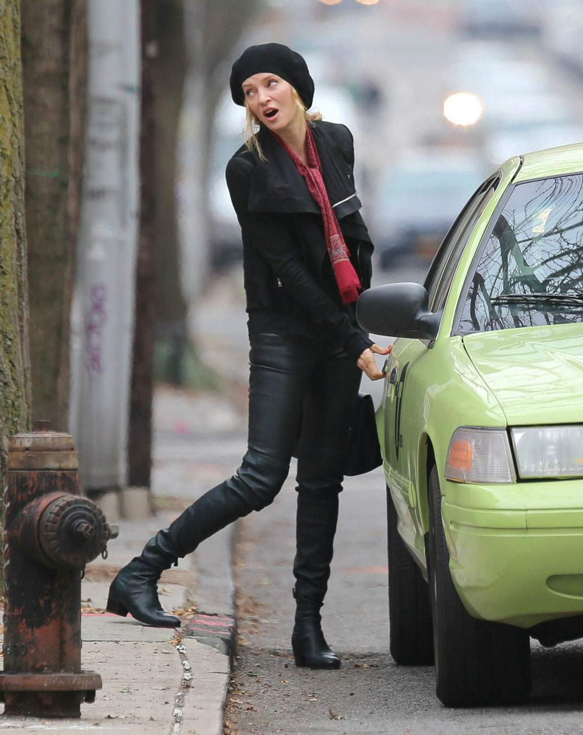 Uma Thurman shooting scenes for upcoming NBC miniseries The Slap