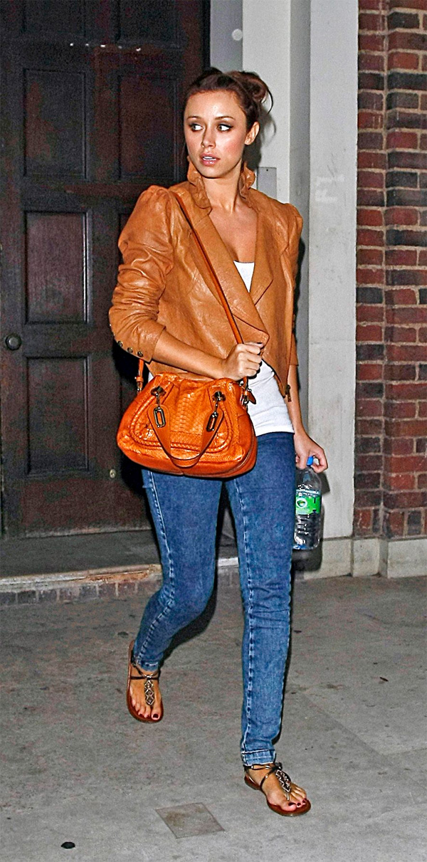 Una Healy leaving rehearsals in London