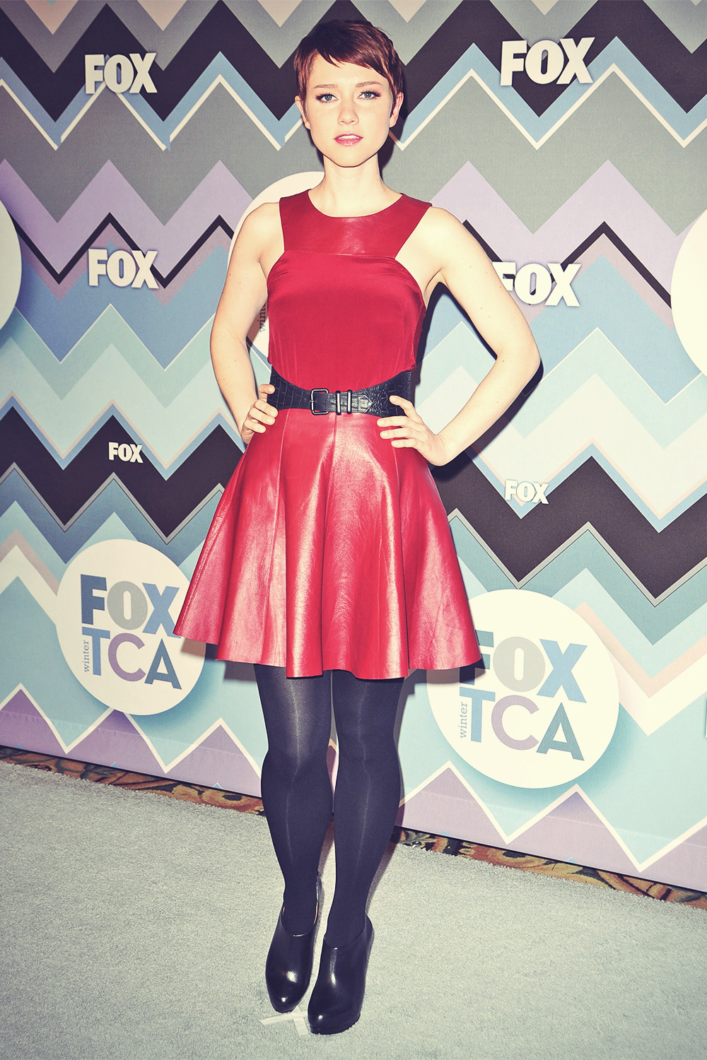 Valorie Curry attends 2013 TCA Winter Press Tour FOX All-Star Party