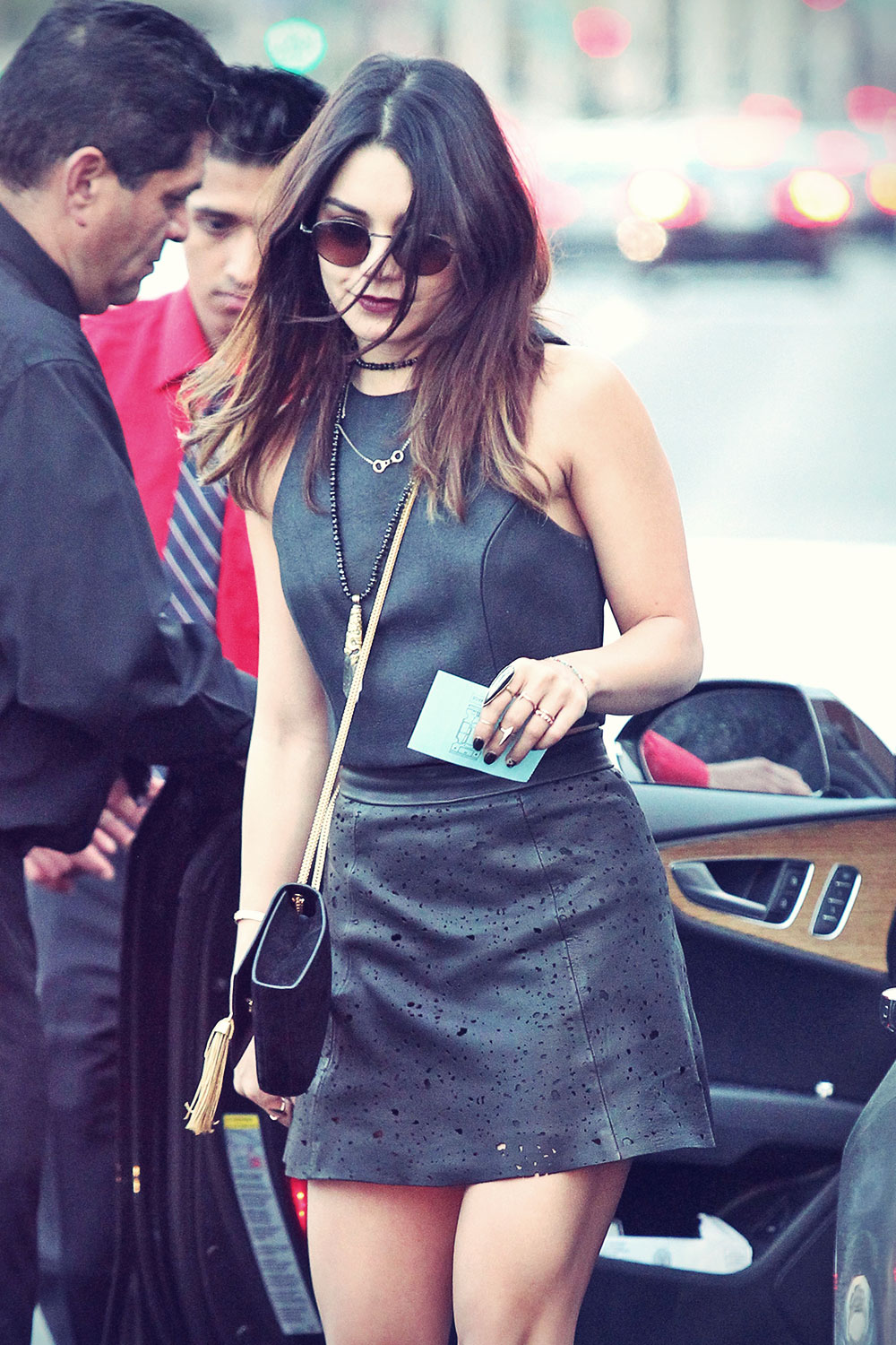 Vanessa Hudgens At Creative Artists Agency Leather