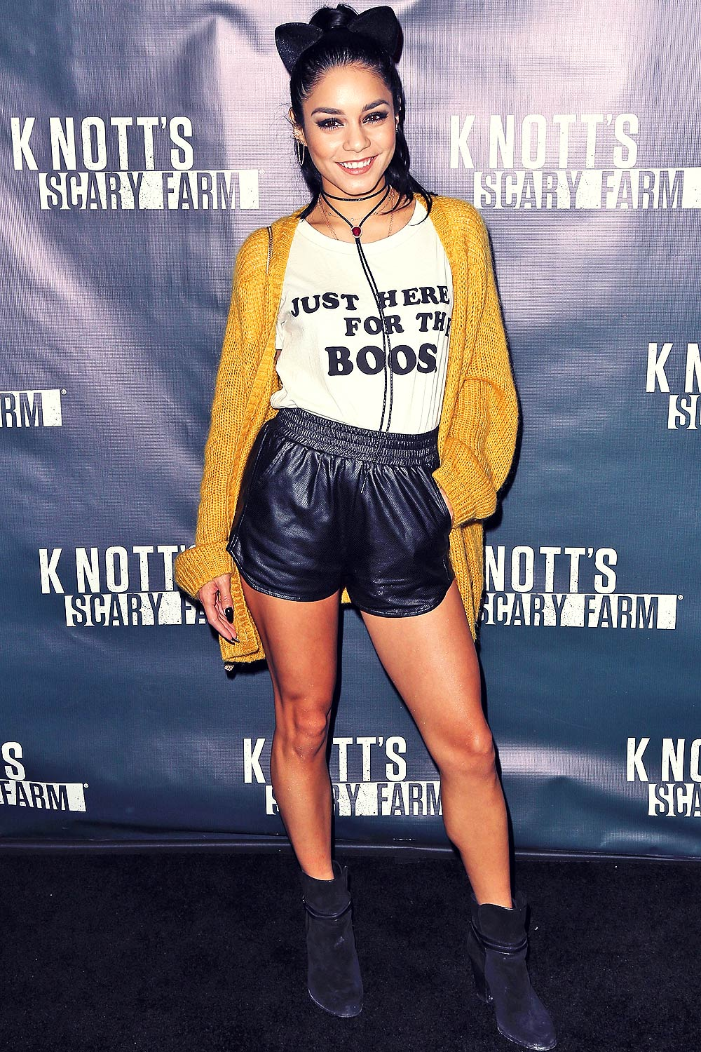 Vanessa Hudgens attends Knott's Scary Farm Black Carpet event