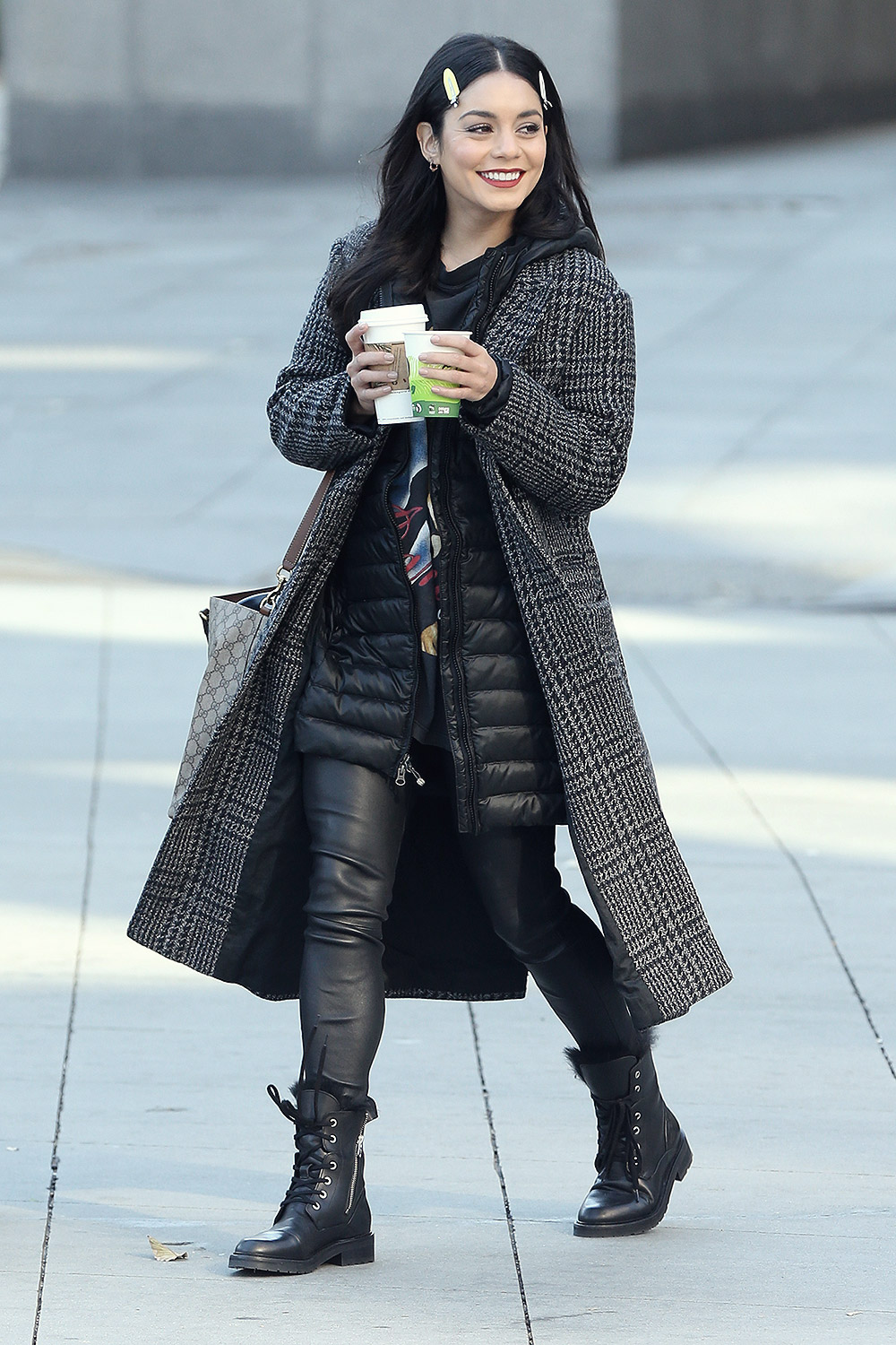 Vanessa Hudgens on the set of 'Second Act'