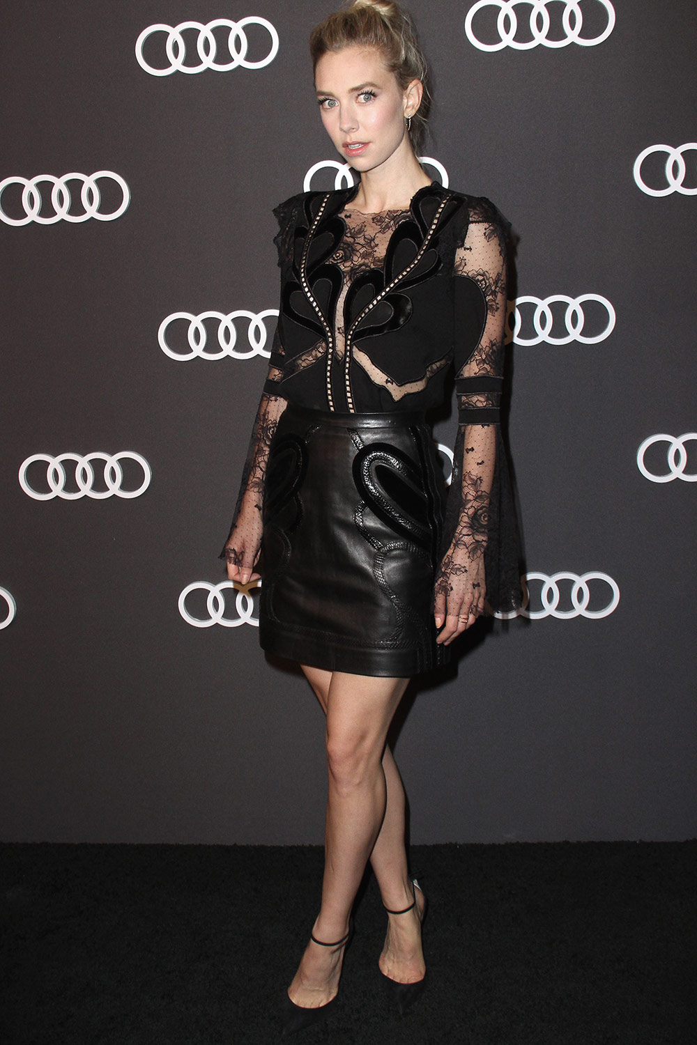 Vanessa Kirby Attends Audi Emmy Party Leather Celebrities