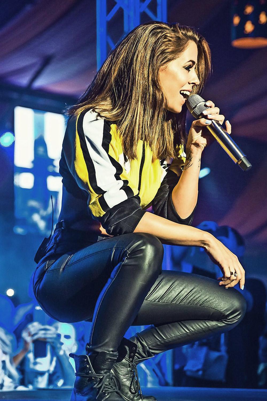 Vanessa Mai Attends Cannstatter Wasen Leather Celebrities