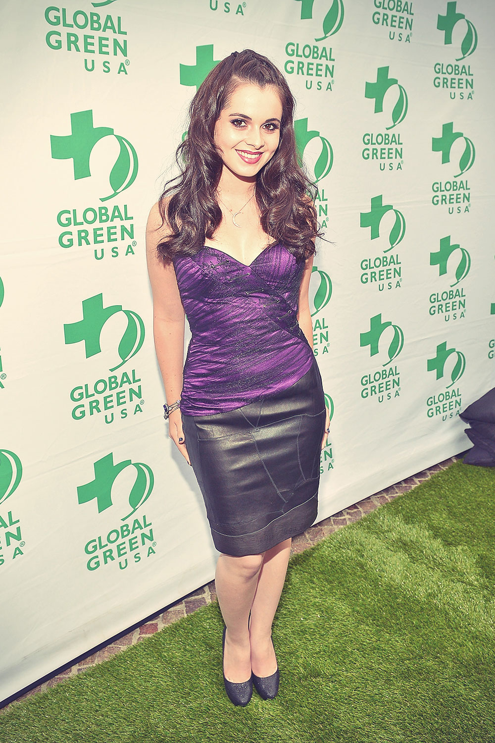 Vanessa Marano attends Global Green USA's Annual Millenium Awards