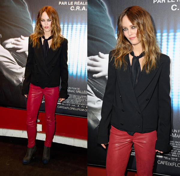 Vanessa Paradis attending the premiere of Cafe De Flore held at UGC Danton in Paris