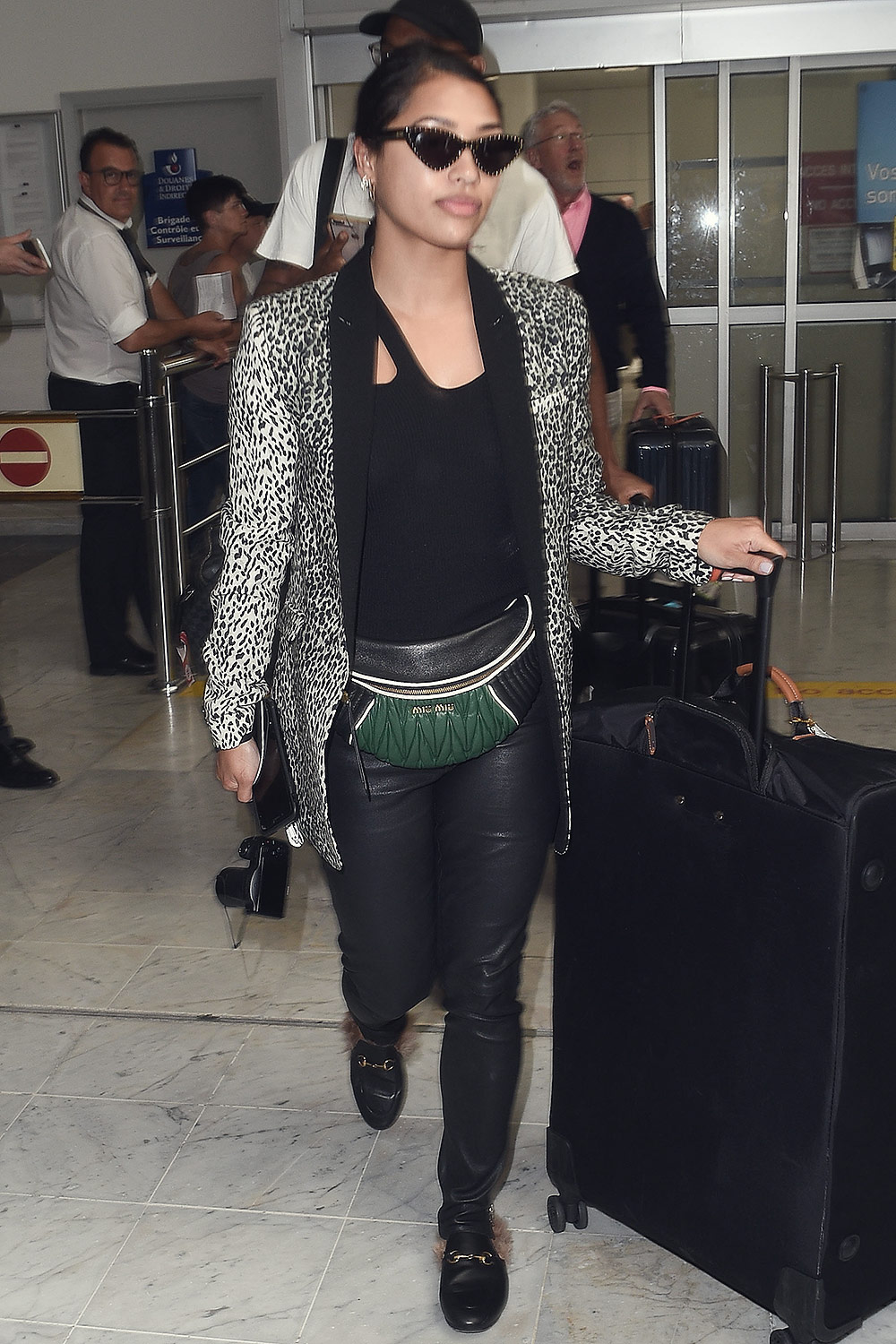 Vanessa White arrives at Nice Airport for Cannes Film Festival
