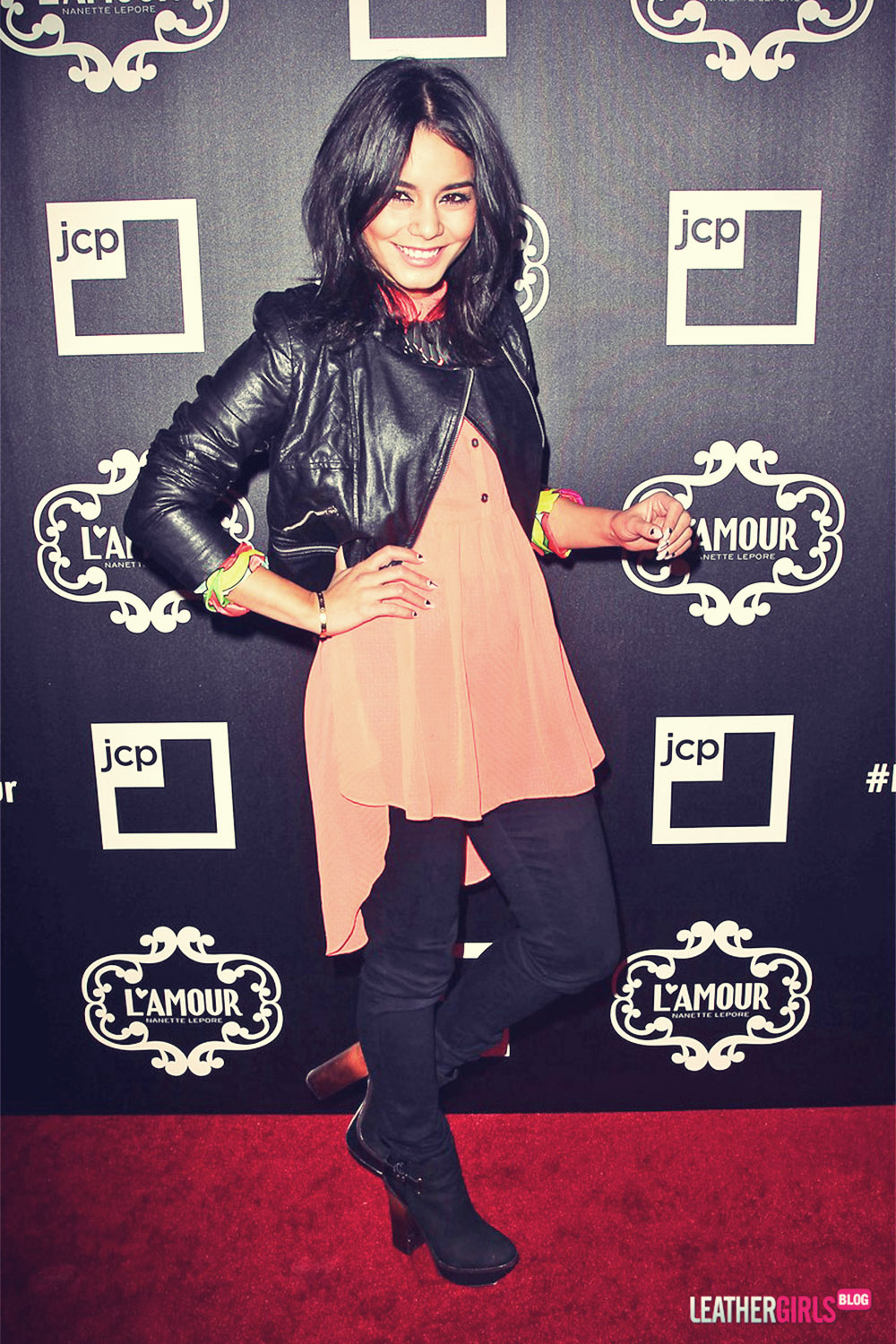 Vanessa Hudgens at the launch of the L'Amour by Nanette Lapore Collection