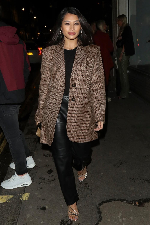 Vanessa White pictured arriving at Mahiki