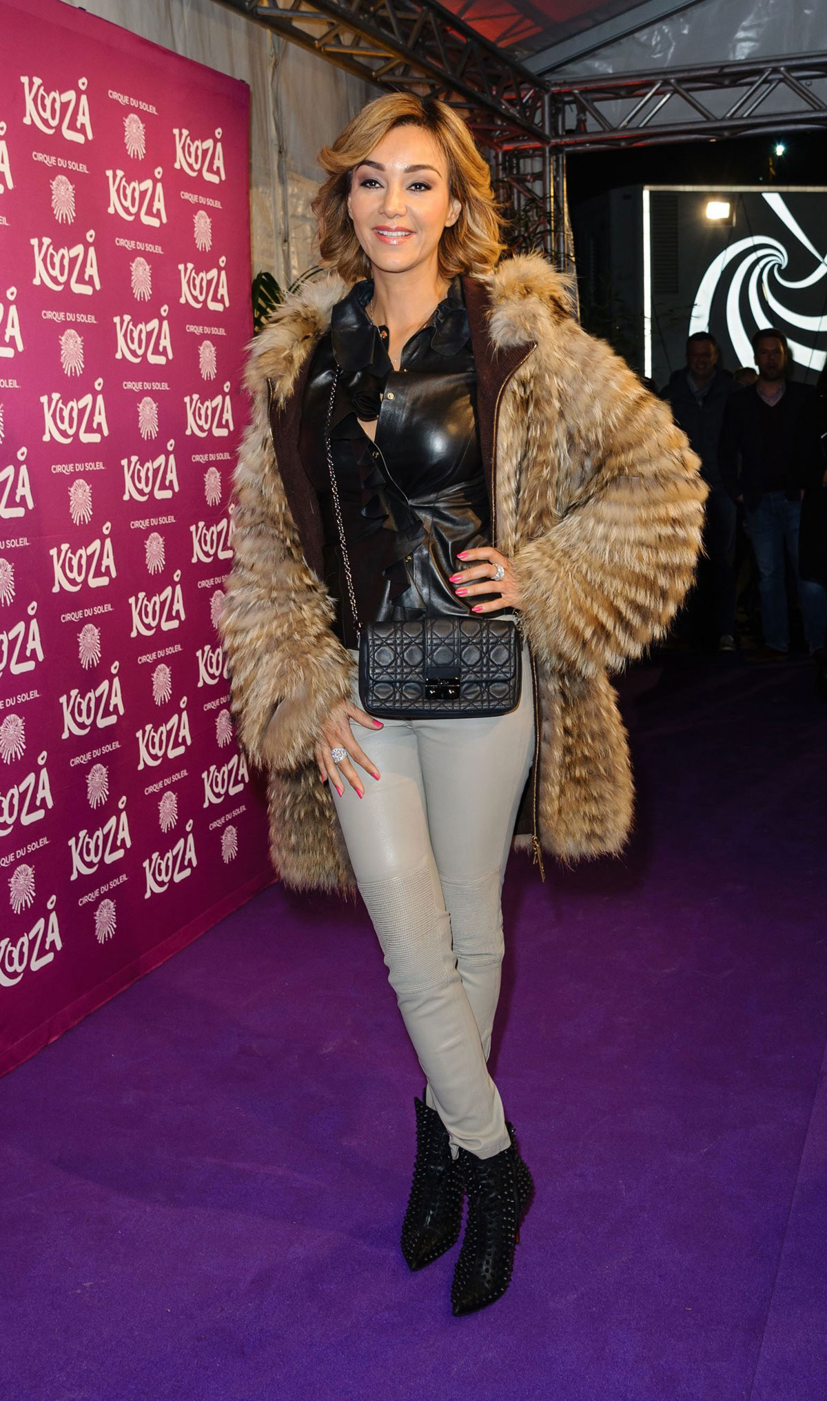 Verona Pooth At Premiere Cirque Du Soleil Kooza Leather