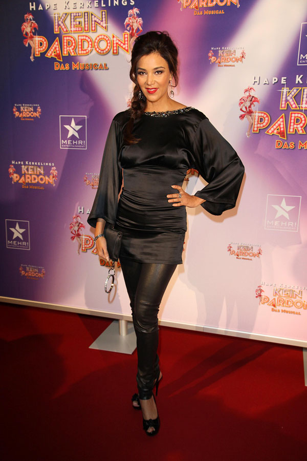 Verona Pooth Premiere of the Musical Kein Pardon, Capitol Theater in Duesseldorf
