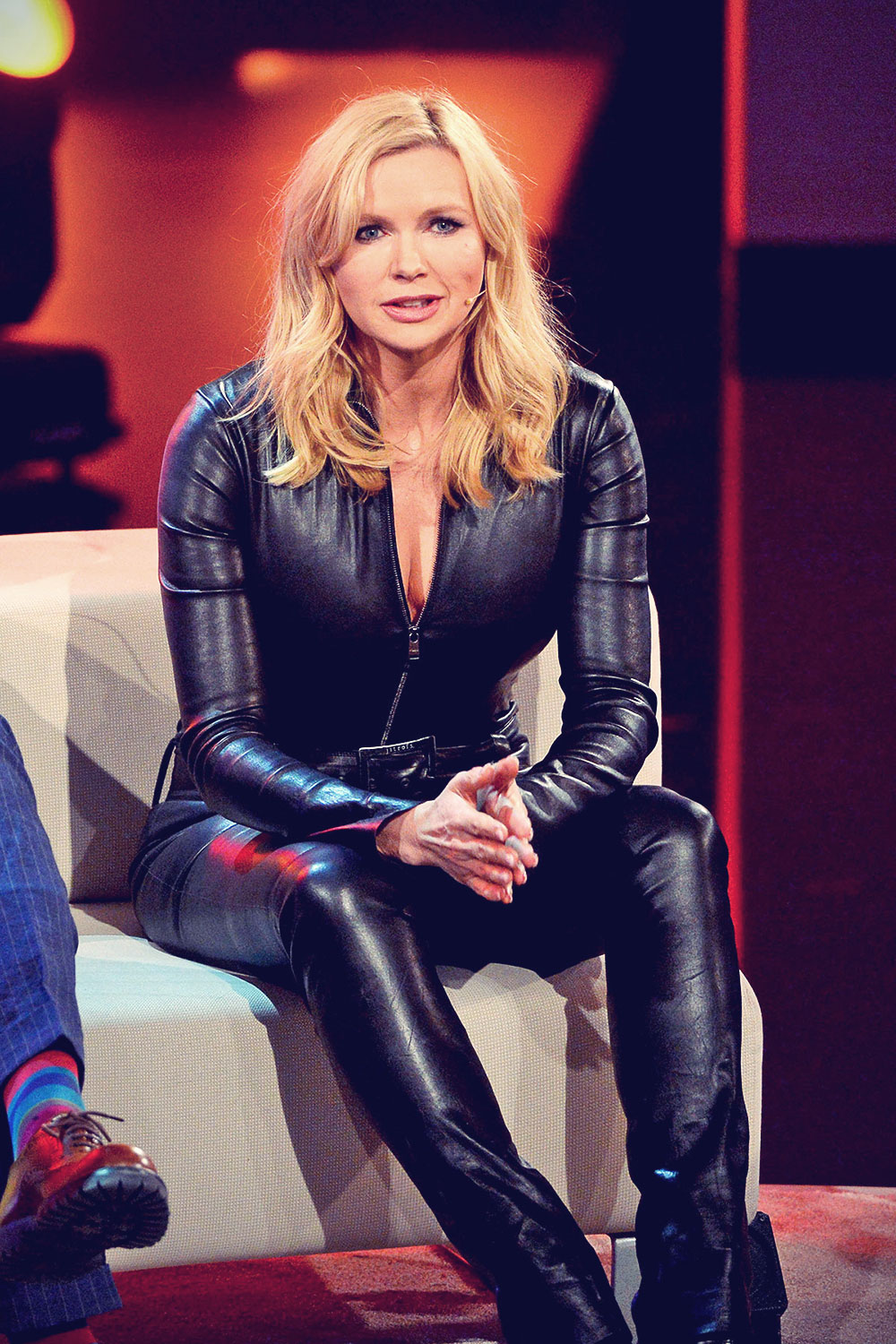 Veronica Ferres recording the RTL show Back to School ...