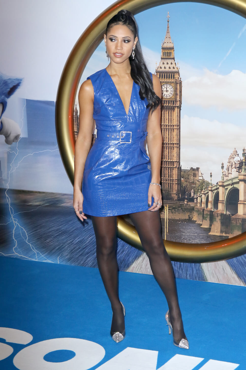 Vick Hope attends Gala Screening of Sonic The Hedgehog