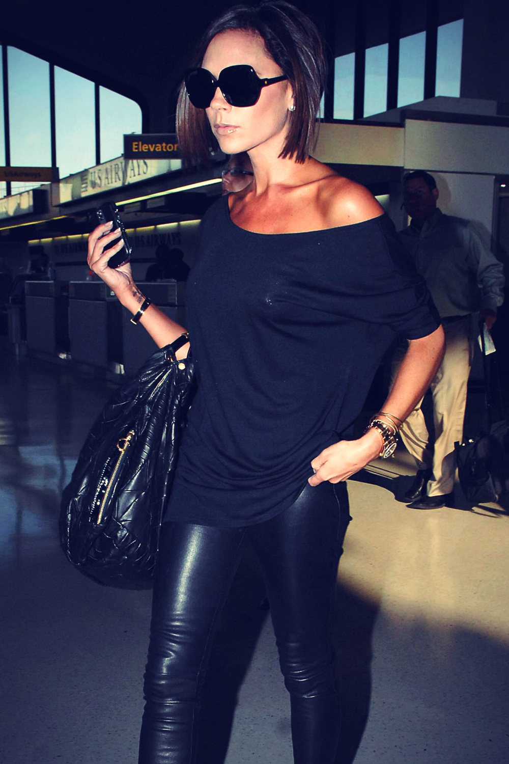 Victoria Beckham Arrives in NYC for Fashion Week