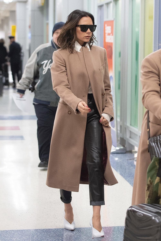 Victoria Beckham seen at JFK airport