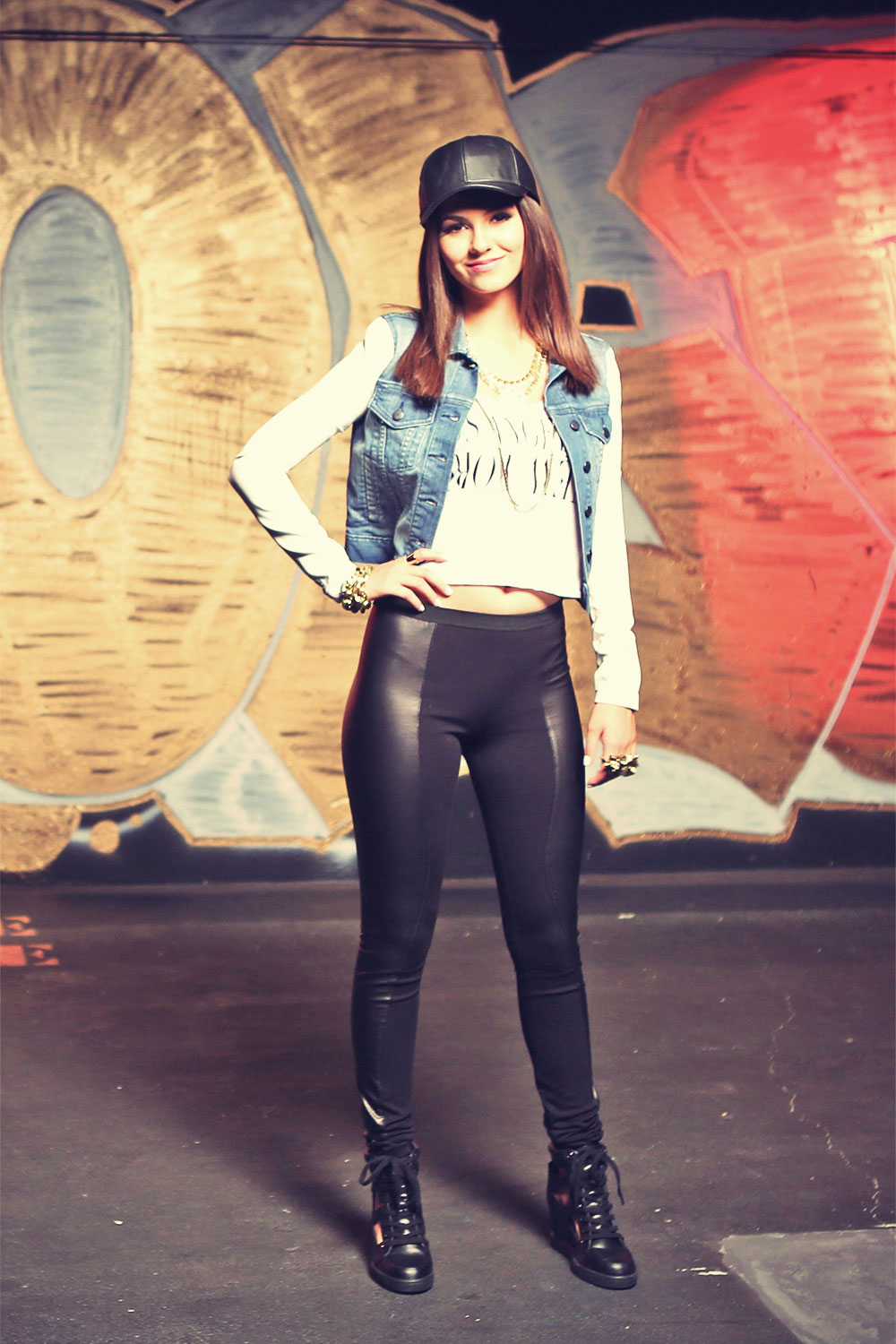 victoria justice leather pantsVictoria Justice Leather Pants