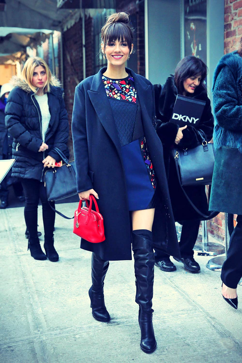 Victoria Justice Attends Dkny Fashion Show Leather