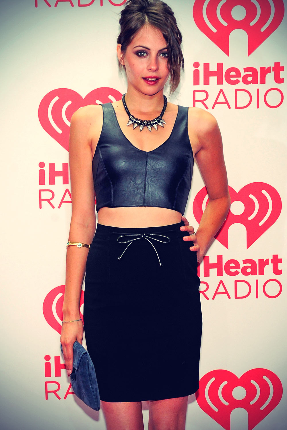 Willa Holland attends iHeartRadio Music Festival Village