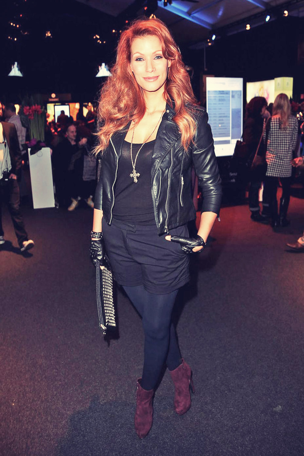Yasmina Filali attends Mercedes-Benz Fashion Week Berlin 2013
